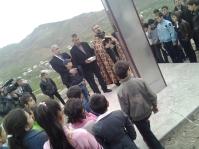 Հայոց Մեծ եղեռնի նահատակների հիշատակին կանգնեցված խաչի օրհնություն Գետափ համայնքում