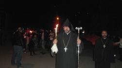 Ջահերով երթ Եղեգնաձորում
