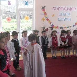 Ծաղկազարդի և Զատկի տոնը Մալիշկայի թիվ 1 մանկապարտեզում