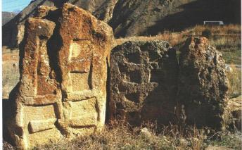 Խաչաքանդակներով ժայռաբեկորներ, 9-րդ դար, Արենի: