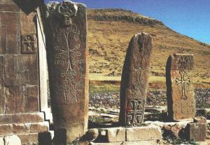 Խաչքարերի վերածված վիշապաքարեր, 11-12-րդ դարեր, Ոլգյուրի վանք: