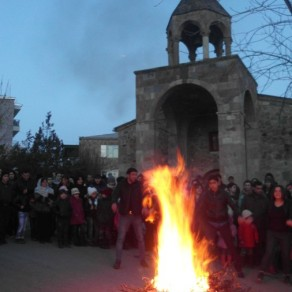 Տյառնընդառաջի տոնը Եղեգնաձորի Սբ. Աստվածածին եկեղեցում