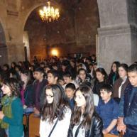 Խաղաղության և հաղթանակի աղոթք Եղեգնաձորի Սուրբ Աստվածածին եկեղեցում