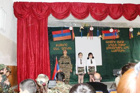 Զոհված ազատամարտիկներին նվիրված  միջոցառում Ջերմուկի 1-ին դպրոցում