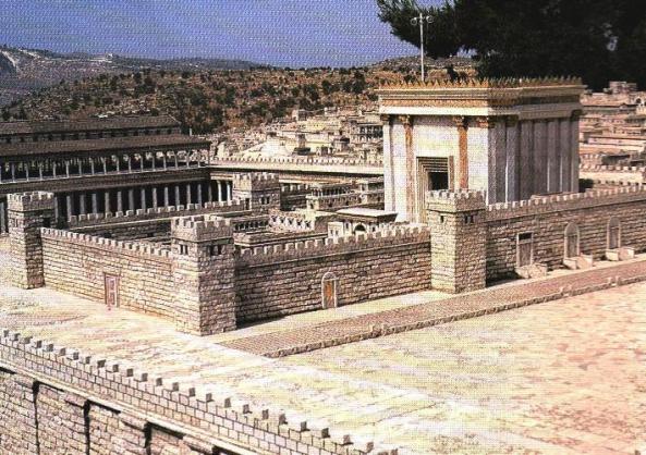 Հերովդես թագավորի տաճարի այս մանրակերտը ստեղծվել է Երուսաղեմի հյուրանոցի տարածքում: