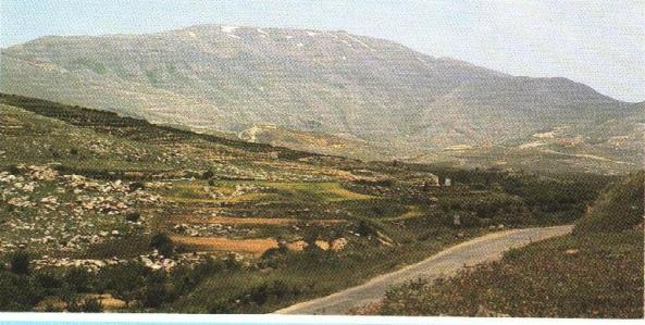Հերմոն լեռը, որն Իսրայելի հյուսիսային սահմանն էր