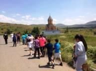«ԺՊԻՏ» ճամբարի երեխաների ուխտագնացությունը Ջերմուկի Սբ. Գայանե եկեղեցի