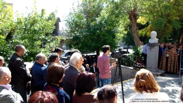 Եղեգնաձորի թիվ 2 հիմնական դպրոցում տեղի ունեցավ դպրոցի շրջանավարտ Հովհաննես Հովհաննիսյանի հուշարձանի բացման հանդիսավոր արարողությունը