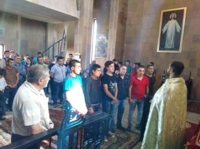 Նորակոչիկների օրհնություն Ջերմուկի Սուրբ Գայանե եկեղեցում