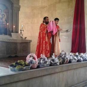 Սուրբ Աստվածածնի Վերափոխման (Խաղողօրհնեք) տոնը Վայքի Սուրբ Տրդատ եկեղեցում