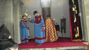 Խաչվերացի տոնը Արկազի Սուրբ Խաչվանքում