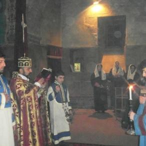 Սուրբ Ծննդյան Ջրագալույցի Ս. Պատարագ Եղեգնաձորի Ս. Աստվածածինեկեղեցում