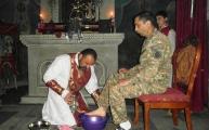 Ավագ հինգշաբթիի արարողությունները Եղեգնաձորի առաջնորդանիստ Ս. Ասվածածինեկեղեցում